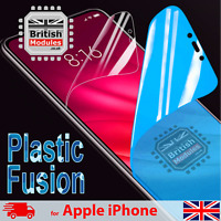 Shockproof Nano Glass Plastic Fusion Shield Film Gel Screen Protector for iPhone