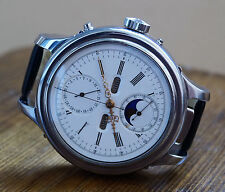VERY RARE 52mm REPEATER MOON PHASE CALENDAR BY LE PHARE С 1890 LARGE WRISTWATCH
