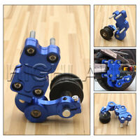Blue Universal Motorcycle Alloy Adjustable Chain Tensioner PIT Trail Dirt Bike