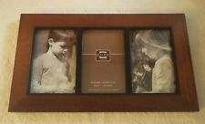 """Prinz Wood Natural Grain Picture Frame Collage Artisan Holds 4"""" x 6"""" Photo New"""