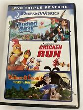 Flushed Away Chicken Run Wallace and Gromit The Curse Were-Rabbit 3 Dvd Triple