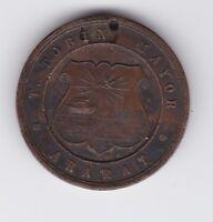 1887 Australia  Ararat T Tobin Victoria's Jubilee Medallion T-681