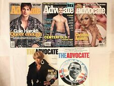 the advocate magazine lot of 11 Gale Harold Obama Mary J Aguilera john stamos