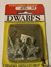 Oop Warhammer Dwarfs Felix And Gotrek Still In Blister Pack Sealed. 1992