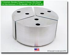 "8"" Tongue & Groove Aluminum Round Chuck Soft Top Jaws (4.0"" HT, 8"" Pie Diameter)"
