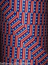 """5 yds 7/8"""" RED WHITE BLUE PATRIOTIC VERTICAL STAR AND STRIPES GROSGRAIN RIBBON"""