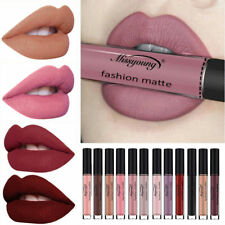 New Women Waterproof Matte Nude Lip Gloss Liquid Long Lasting Lipstick Make-up