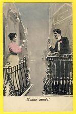 cpa BONNE ANNÉE 1905 Balcon Champagne de Julien à Mr et Mme Morel Casino à GAP