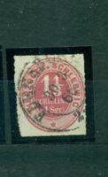 Schleswig, Wertziffer im Oval , Nr. 15 gestempelt