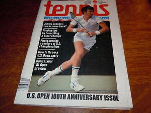 "VINTAGE "" TENNIS "" MAGAZINE - SEPTEMBER 1981"