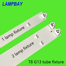 """T8 G13 Tube Fixture 2FT 3FT 4FT 5FT Single/Double LED Lamp House 24"""" 36"""" 48"""" 60"""""""