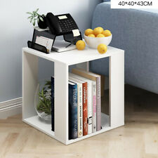 Modern Small Coffee Tea Table Side Table With Storage Space Square Desk White UK
