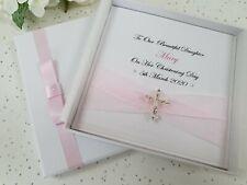 Christening Baptism First Holy Communion Card Handmade Personalised Keepsake Box