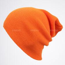 Cuff Beanie Knit Hat Winter Cap Slouchy Skull Ski Solid Men Women Plain Baggy