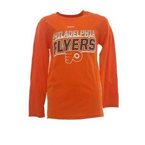 Philadelphia Flyers Kids Youth Size Official Reebok NHL Long Sleeve Shirt New