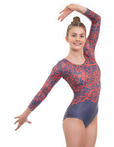 Deluxe Flourish Adult and Girls Gymnastics Leotard for Competition Dance Gym
