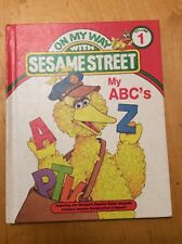 On My Way with Sesame Street volume 1 Books Collection Preschool 1989 b60