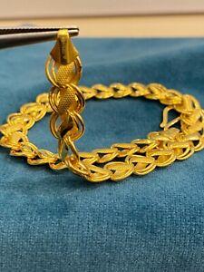 22K Certified Solid Yellow Gold Dubai Rare Design Unisex Link Bracelet - 7 Inch
