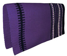 "NEW PURPLE Western Saddle Show Pad Blanket Navajo New Zealand Wool 33"" x 32"""