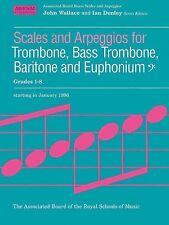 ABRSM Bass Clef Brass Scales & Arpeggios, Grades 1-8 - Same Day P+P