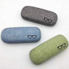 Portable Hard Linen Eye Glasses Case Sunglasses Protector Eyewear Storage Box