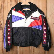Vintage YAMAHA Black, Purple & Red Spellout Snowmobile Jacket Men's Sz. L