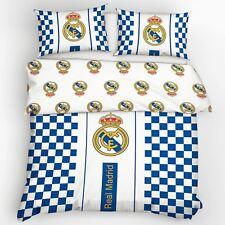 OFFICIEL REAL MADRID CF Crest à carreaux européen Set Housse de couette double