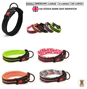 Secure Buckle Air Mesh Dog Collars Reflective Nylon Dog Puppy Collar Adjustable