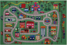 """Multi-Color Map Roads Street Pictorial Area Rug FT-515 - Aprx 3' 3"""" x 4' 10"""""""