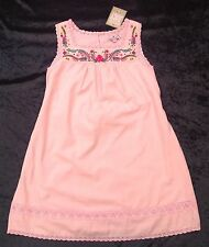 NWT Juicy Couture Girls Age 8 Pale Pink Sleeveless Embroidered Cotton Sun Dress