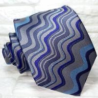 Cravatta uomo multicolore 100% seta Made in Italy handmade Morgana