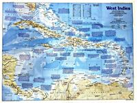 ⫸ 1987-11 West Indies, Making of America – National Geographic Map School Poster