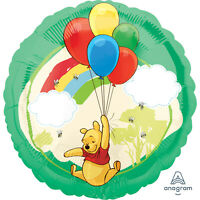 2 x Winnie the Pooh 18'' Round Helium Birthday Party Balloon - Twin Pack