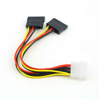 4 Pin IDE Molex Male to Dual SATA Y-Splitter Female HDD Power Adapter Cable CH
