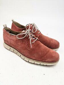 Cole Haan Zerogrand Red Suede Plain Toe Oxford Shoes Sz 12 M