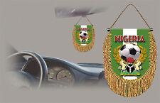 NIGERIA SOCCER FLAG CAR MINI BANNER, PENNANT