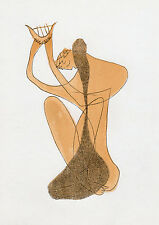 Henri LAURENS 1952 Original Color Lithograph Apollo Playing the Harp FRAMED COA