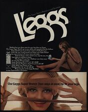 1972 L'EGGS Pantyhose - Sexy Woman Wearing Sheer Panty Hose - Nylons VINTAGE AD