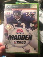 Madden NFL 2005 Microsoft Original Xbox Video Game CIB
