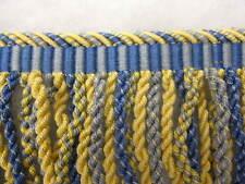 1.9 mt Azul Y Amarillo Lingotes flecos 12cm tejido tapicería pasamanería costura