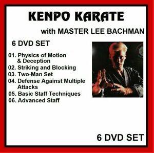 KENPO KARATE MASTER LEE BACHMAN 6 dvd set training series   panther productions