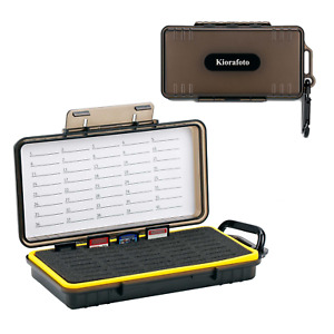 40 Slots Water-Resistant SD NS CFexpress A Memory Card Case Box Storage Holder