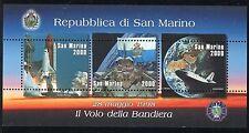 SAN MARINO 1998 BANDIERA/SPAZIO/FLAG/SPACE/EARTH/LAUNCH of US SPACE SHUTTLE s/s