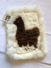 Alpaca Fur Rug or Wall Hanging - Heavenly Soft. 16x 21 Inches