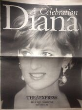 PRINCESS DIANA RARE 16 Page Newspaper: A Celebration - 1 Year Anniversary Death