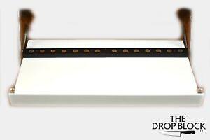 Drop Block Under Cabinet Knife Storage Rack - Small, White