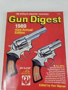 1989 Gun Digest-43rd Annual Edition- S/C VG++- Ken Warner