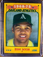 Reggie Jackson Baseball Card #500 Score Oakland Athletics MLB HOF Free Ship MINT