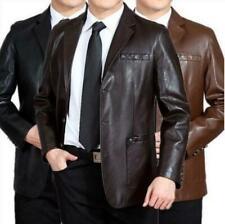 2020 Men's Formal Jacket Coat Blazer Business Dress Casual Leather Lapel Fashion