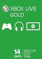 Xbox Live Gold 14 Day Trial Membership Code, Only work with XBOX ONE CONSOLES